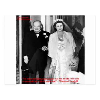Churchill & Famous Marriage Quote Postcard