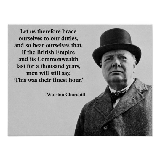 Churchill Finest Hour Poster