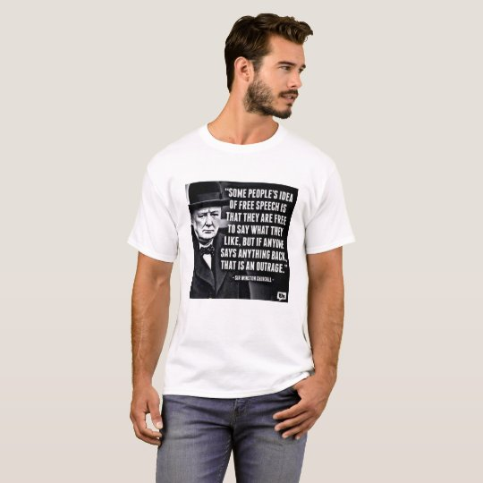 Churchill Free Speech T-Shirt