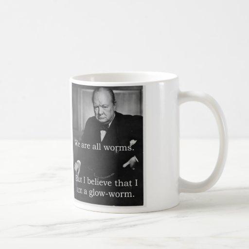 Churchill: I am a Glowworm Basic White Mug