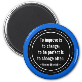 Churchill Inspirational Quote Magnet