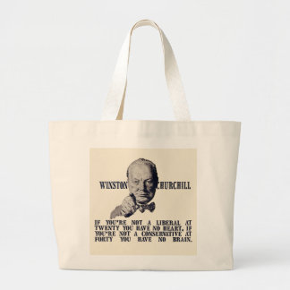 Churchill on Conservatives and Liberals Large Tote Bag