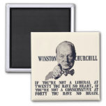 Churchill on Conservatives and Liberals Refrigerator Magnets