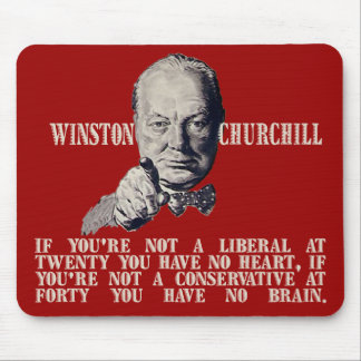 Churchill on Conservatives and Liberals Mouse Pad