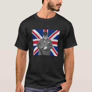 Churchill Posing With A British Flag T-Shirt