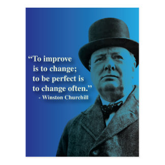Churchill quote on Change Postcard
