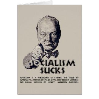 Churchill Quote:  Socialism Sucks! Card