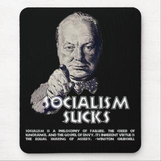 Churchill Quote:  Socialism Sucks! Mouse Mat