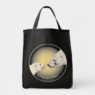 Churchill Souvenirs Polar Bear Art Shirts & Gifts Tote Bags