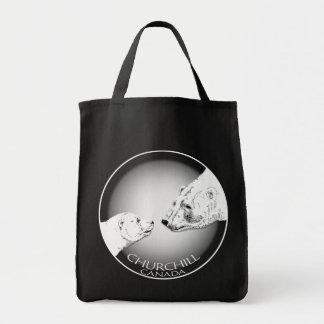 Churchill Souvenirs Polar Bear Art Shirts & Gifts Grocery Tote Bag