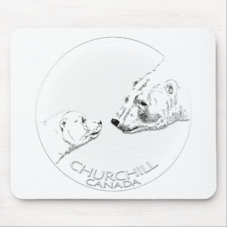 Churchill Souvenirs Polar Bear Art Shirts Gifts Mousepad