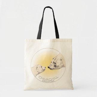 Churchill Souvenirs Polar Bear Art Shirts & Gifts Canvas Bags