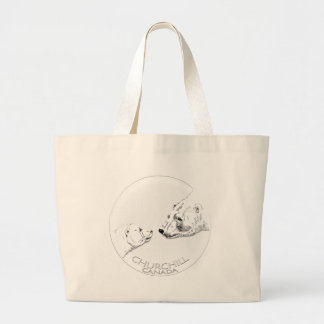 Churchill Souvenirs Polar Bear Art Shirts & Gifts Jumbo Tote Bag