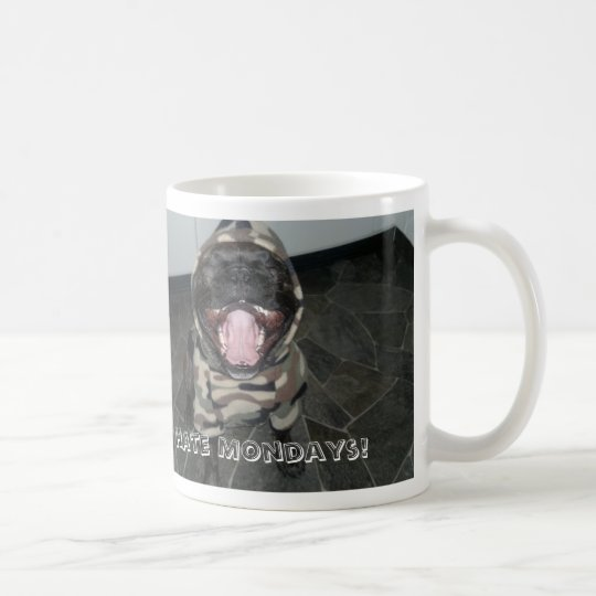 "Churchill the French Bulldog ""I Hate Mondays"" Mug"