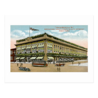 Churchill's, Broadway and 49th, New York Postcard