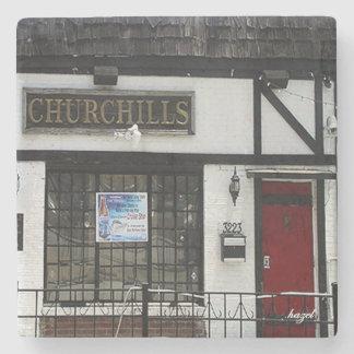 Churchills Buckhead Atlanta Marble Stone Coaster. Stone Coaster