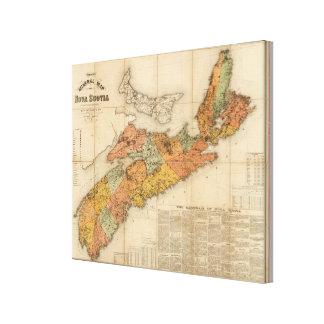 Church's mineral map of Nova Scotia Canvas Print