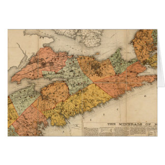 Church's mineral map of Nova Scotia Card