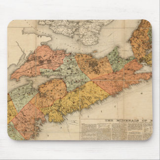 Church's mineral map of Nova Scotia Mouse Mat