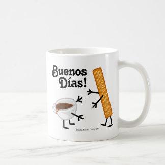 Churro & Chocolate - Buenos Dias! Basic White Mug