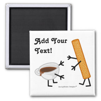 Churro & Chocolate - Customizable Magnet