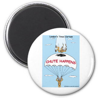 Chute Happens Funny Gifts & Collectibles 6 Cm Round Magnet