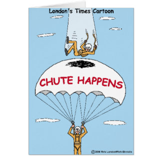 Chute Happens Funny Gifts & Collectibles Greeting Card