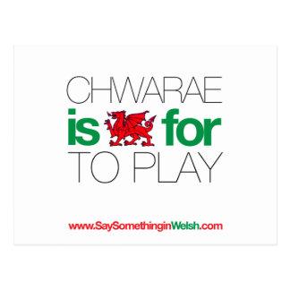 CHWARAE POSTCARD