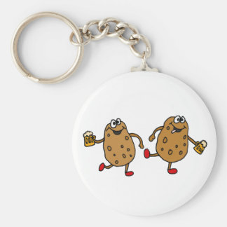 CI- Smashed Potatoes Cartoon Basic Round Button Key Ring