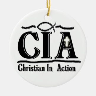CIA ACRONYM - CHRISTIAN IN ACTION - ORNAMENT
