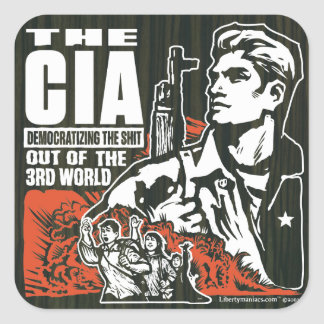 CIA Democratizing the 3rd World Sticker Set