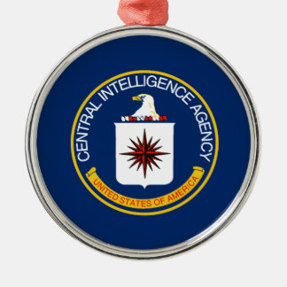 CIA Flag Silver-Colored Round Decoration