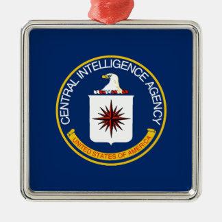 CIA Flag Silver-Colored Square Decoration