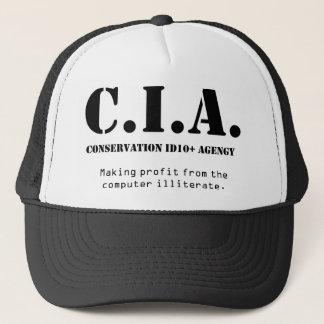 CIA id10t Trucker Hat