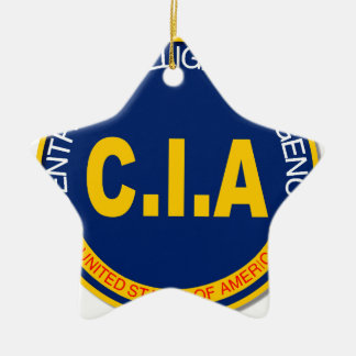 CIA Logo Mockup Ceramic Star Decoration