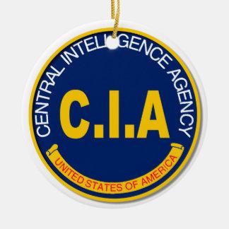 CIA Logo Mockup Round Ceramic Decoration