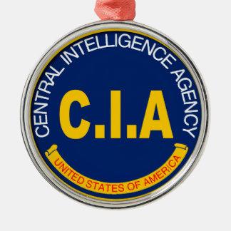 CIA Logo Mockup Silver-Colored Round Decoration