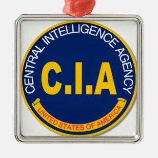 CIA Logo Mockup Silver-Colored Square Decoration
