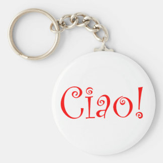 Ciao Basic Round Button Key Ring