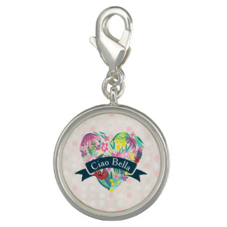 Ciao Bella Cute Floral Heart with Tropical Flowers