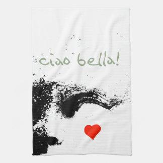 ciao bella! tea towel