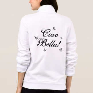 Ciao Bella with Butterflies Typography Zip Jogger
