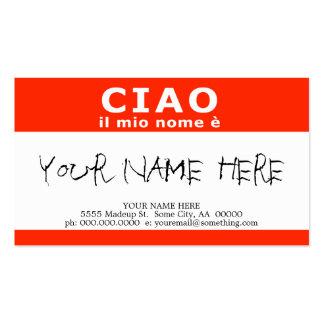 CIAO il mio nome e Business Card Templates