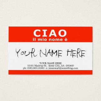 CIAO il mio nome e Business Card