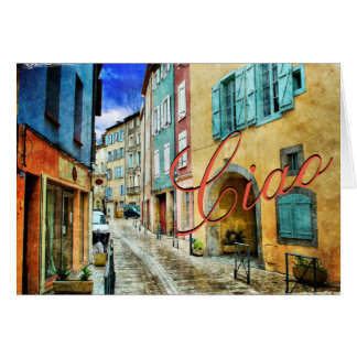 Ciao Red Street Scene Note Cards
