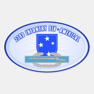 CIB 23 Inf Div (Americal) Oval Sticker