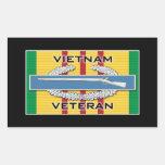 CIB Vietnam Veteran Rectangular Sticker