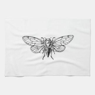 Cicada Hand Towels