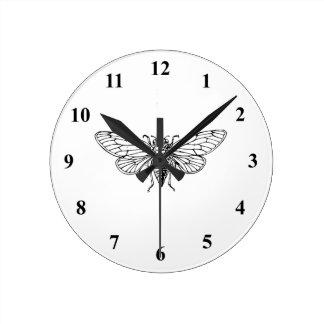 Cicada Round Clock