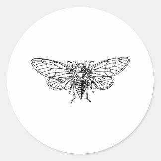 Cicada Classic Round Sticker
